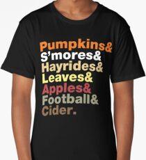 Fall Helvetica Long T-Shirt
