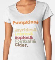 Fall Helvetica Women's Premium T-Shirt
