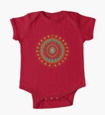 Hand-Drawn Bohemian Mandala Turquoise & Rust Kids Clothes