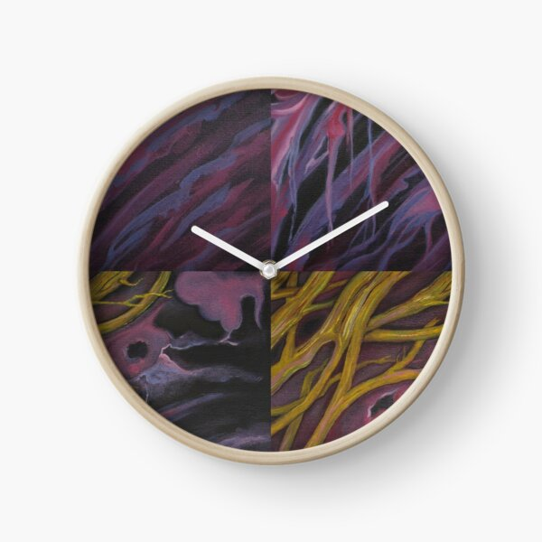 AMBER AURA SNAGS VIOLET VIRGO Clock