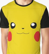 Pikachu Smiley Face  Graphic T-Shirt