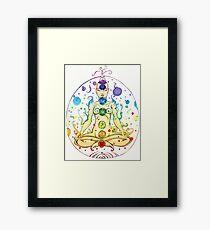 Large Chakra pranic yoga Framed Print