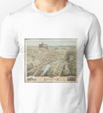 Vintage Pictorial Map of Waukesha Wisconsin (1874)  T-Shirt
