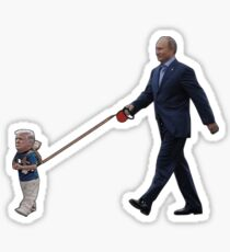 Tiny Trump Putin Sticker