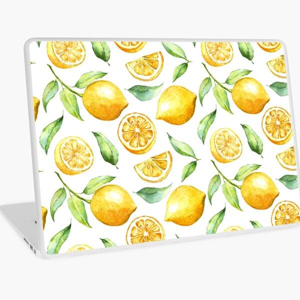Watercolor Lemons Pattern Laptop Skin