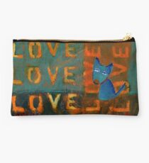 Project 321 - Love Sign and a Blue Dog Studio Pouch