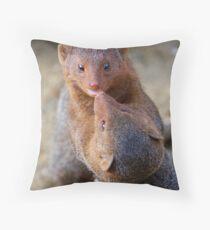 Mongoose wrestling.......   Throw Pillow