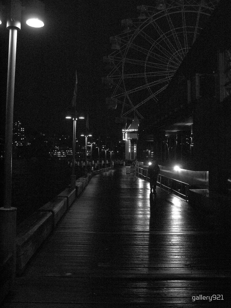 boardwalk at night by gallery921