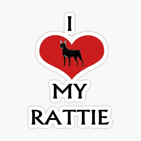 I LOVE MY RATTIE Sticker