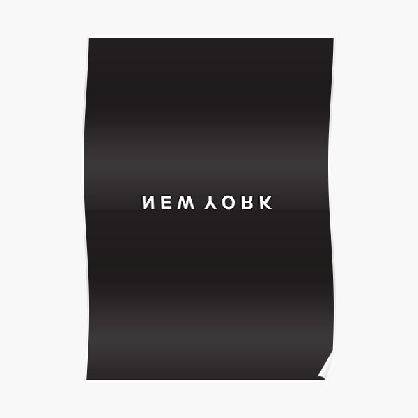 New York Minimalist Black and White - Trendy/Hipster Typography Poster
