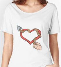 Heart & Arrow Women's Relaxed Fit T-Shirt