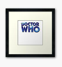 Doctor Who Classic Series Eighth Doctor Logo Framed Print