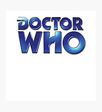 Doctor Who Classic Series Eighth Doctor Logo Photographic Print