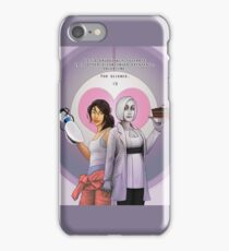 For Science, Valentine: Chell x human!GLaDOS iPhone Case/Skin