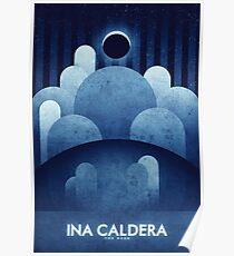 The Moon | Ina Caldera | Space Art Poster