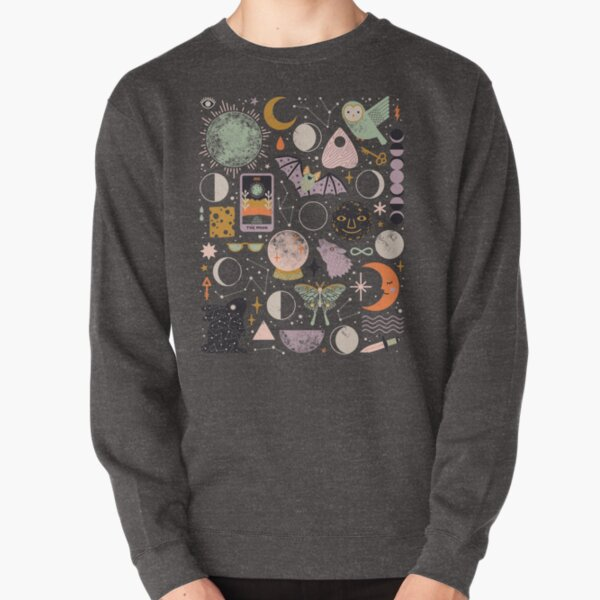Lunar Pattern: Blue Moon Pullover Sweatshirt