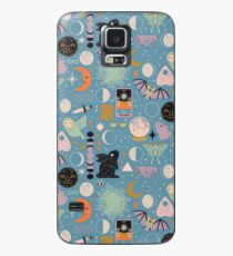 Lunar Pattern: Blue Moon Case/Skin for Samsung Galaxy