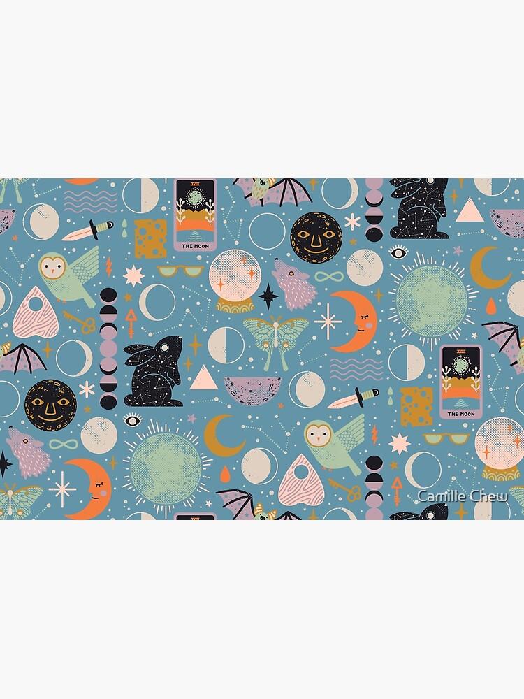 Lunar Pattern: Blue Moon by LordofMasks