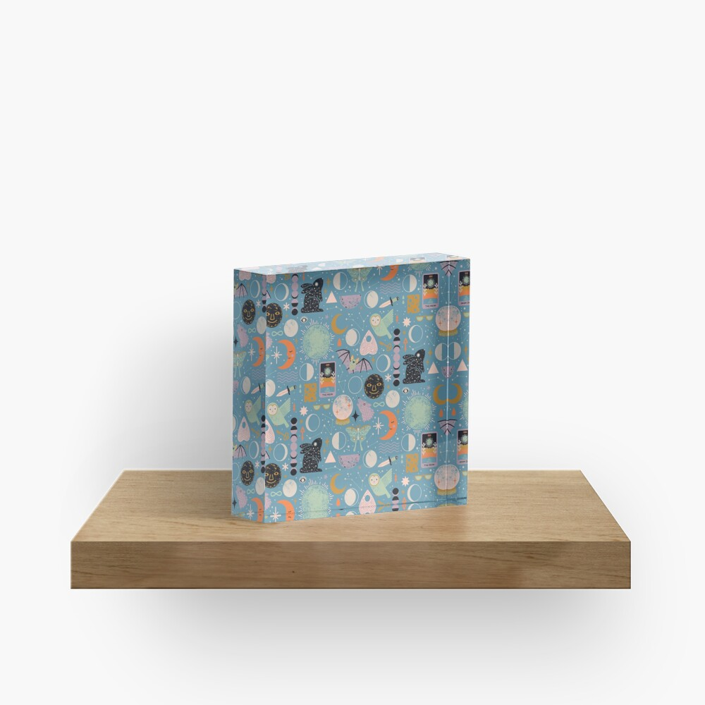 Lunar Pattern: Blue Moon Acrylic Block