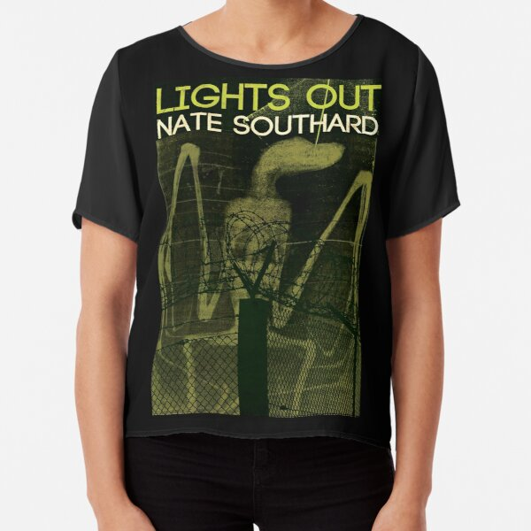 Sinister Grin Press Lights Out Chiffon Top