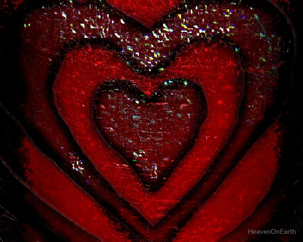Red Hearts by HeavenOnEarth