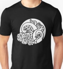 Tentacles and Roses (Black and White) T-Shirt