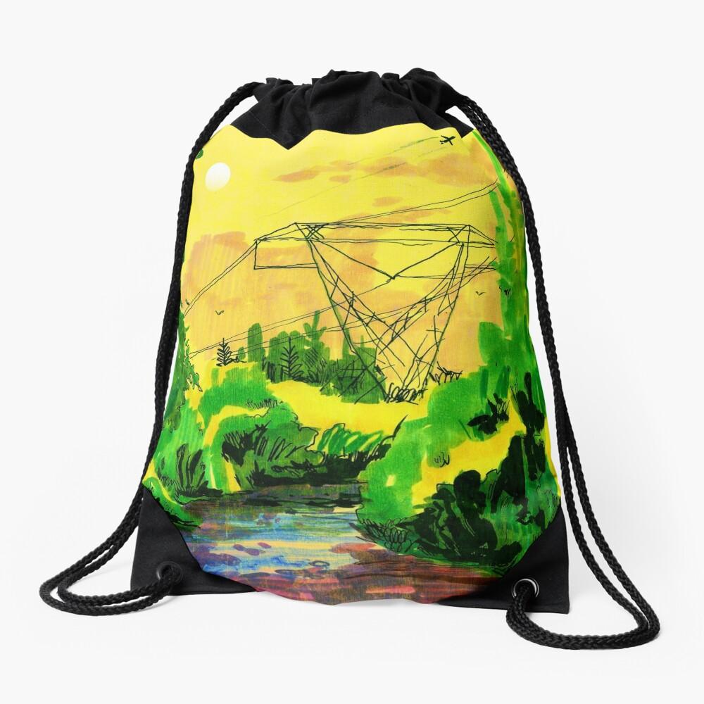 Wherever We Go Drawstring Bag