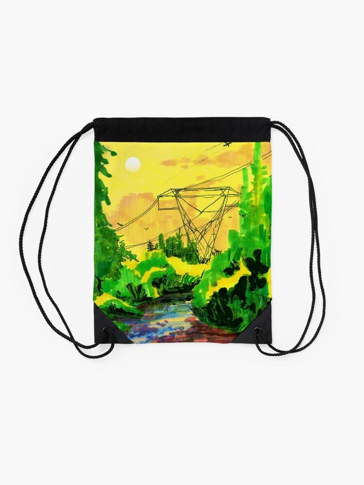 Alternate view of Wherever We Go Drawstring Bag