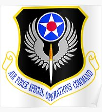 USAF Special Operations Command Shield Poster
