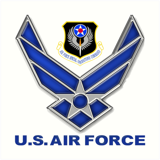 Afsoc Crest With The Air Force Symbol Art Prints By Spacestuffplus