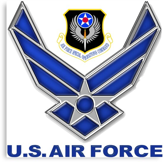 Afsoc Crest With The Air Force Symbol Canvas Prints By
