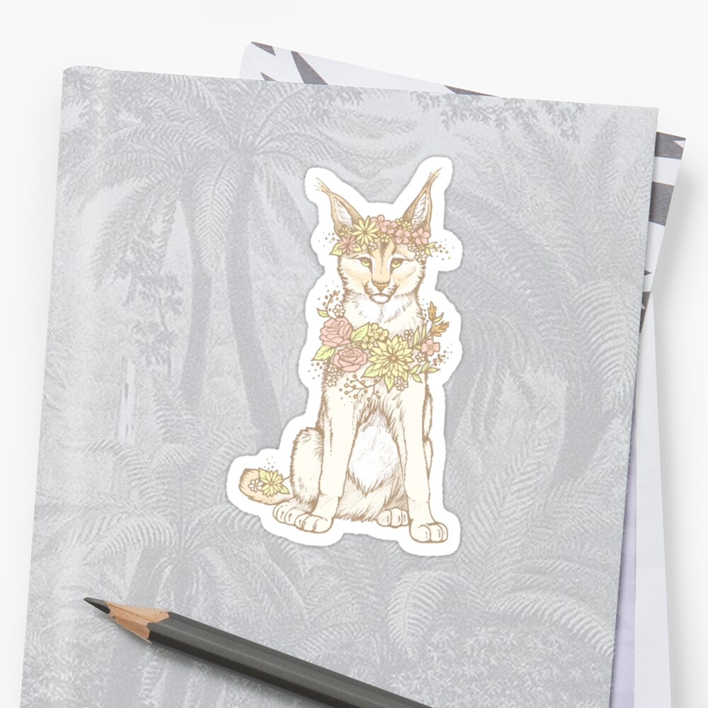 Floral Caracal by Lauren Williamson