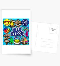 Blauer Rücken Postkarten