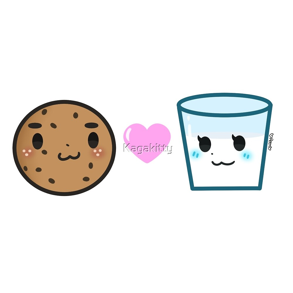 Milk and Cookie - Love at First Bite  by Kagakitty