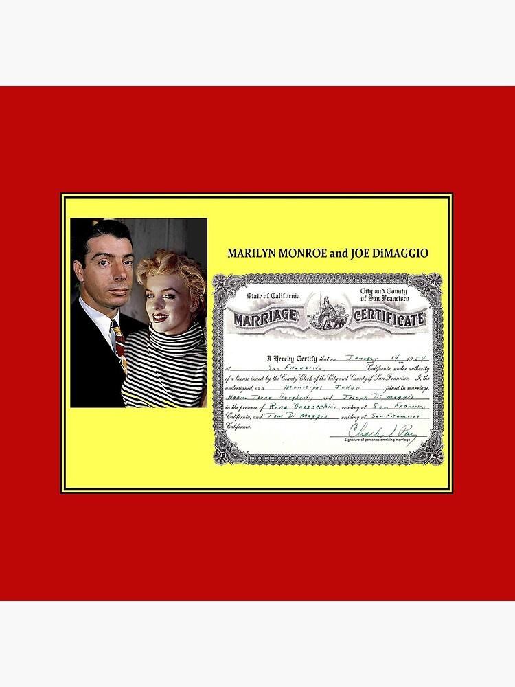 MARILYN MONROE and JOE DiMAGGIO : Wedding Print by posterbobs