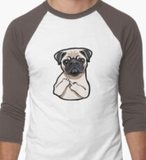 pug puppy cartoon - cute pug cartoon - pug hand sign T-Shirt