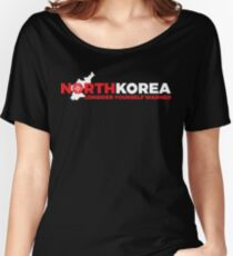 North Korea Warned Bullseye T-shirt Women's Relaxed Fit T-Shirt