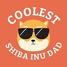 Coolest Shiba Inu Dad by cartoonbeing