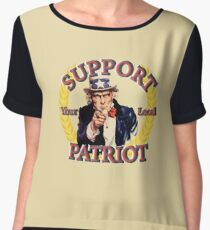 Support Your Local Patriot Uncle Sam Edition Women's Chiffon Top