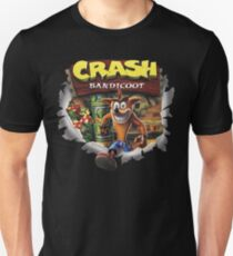 Crash Bandicoot ps1 psx ps4 1996 2017 Unisex T-Shirt