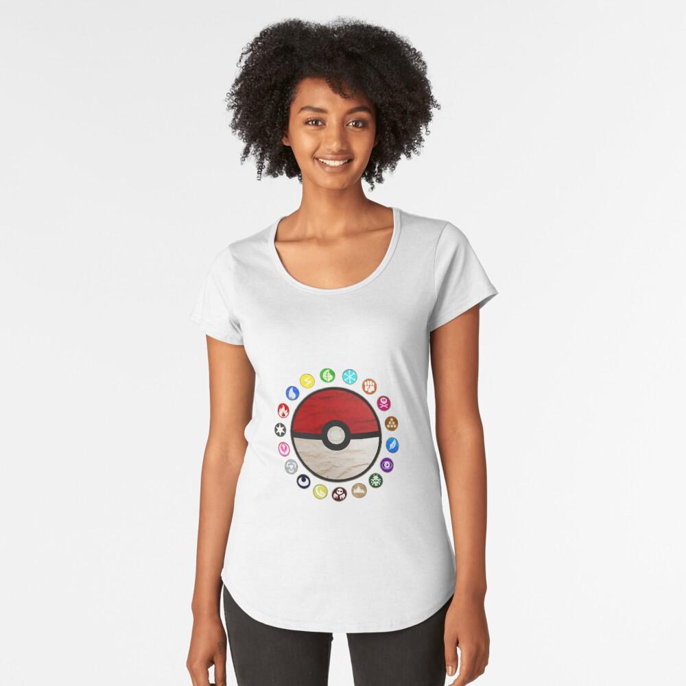 Pokemon Pokeball Women's Premium T-Shirt Front