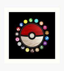 Pokemon Pokeball Art Print