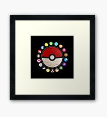 Pokemon Pokeball Framed Print