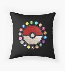 Pokemon Pokeball Throw Pillow