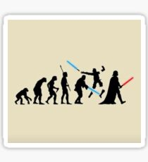 The Evolution of Vader Sticker