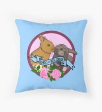 Bunnies for Birth Control Throw Pillow