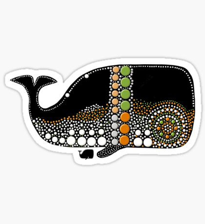 Retro Whale Migration Sticker