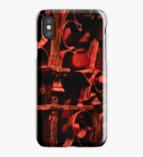 Red Scrolls iPhone Case/Skin