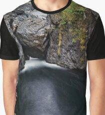 River nature scenery at Englishman River Falls Provincial Park on Vancouver Island art print Graphic T-Shirt