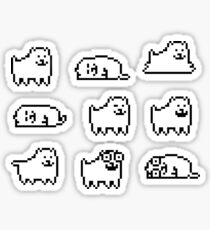 Belästigender Hund Undertale HQ Sticker